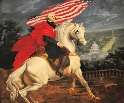 That's me riding in to save the Republic. Or maybe it's George Washington.