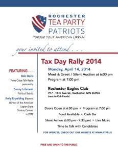 Tax Rally 2014 Flyer